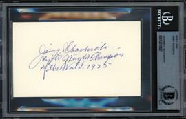 Jimmy Goodrich Autographed 3x5 Index Card 1925 Lightweight Champion Beckett BAS #12516827