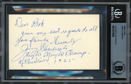 "Jimmy Goodrich Autographed 3x5 Index Card 1925 Lightweight Champion ""To Bob"" Beckett BAS #12516828"