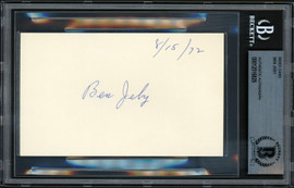 Ben Jeby Autographed 3x5 Index Card Middleweight Champ Beckett BAS #12516829