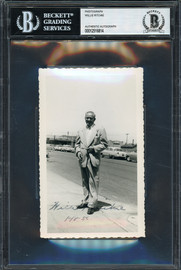 Willie Ritchie Autographed 3.5x5.5 Photo Lightweight Champion Vintage 1953 Beckett BAS #12516814