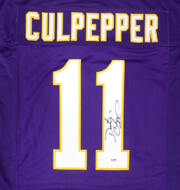 Minnesota Vikings Daunte Culpepper Autographed Purple Jersey PSA/DNA Stock #187482