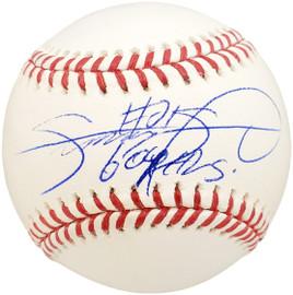 "Sammy Sosa Autographed Official MLB Baseball Chicago Cubs ""509 HRs"" Beckett BAS #N64381"