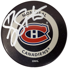 Scott Thornton Autographed Official Montreal Canadiens Logo Hockey Puck SKU #187686