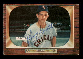 Johnny Groth Autographed 1955 Bowman Card #117 Chicago White Sox SKU #187859