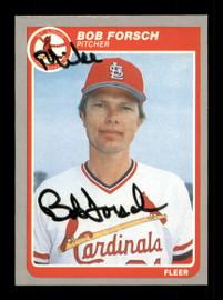"""Bob Forsch Autographed 1985 Fleer Card #223 St. Louis Cardinals """"Mike"""" SKU #187969"""