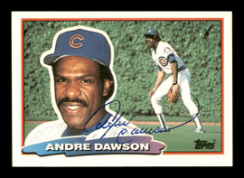 Andre Dawson Autographed 1988 Topps Big Card #153 Chicago Cubs SKU #188100