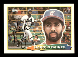 Harold Baines Autographed 1988 Topps Big Card #224 Chicago White Sox SKU #188139