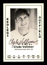 Clyde Vollmer Autographed 1979 Diamond Greats Card #267 Cincinnati Reds SKU #188866