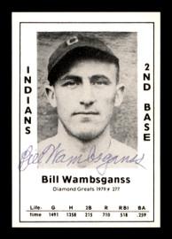 Bill Wambsganss Autographed 1979 Diamond Greats Card #277 Cleveland Indians SKU #188871