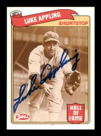 Luke Appling Autographed 1989 Swell Baseball Greats Card #30 Chicago White Sox SKU #189065