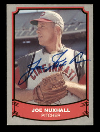 Joe Nuxhall Autographed 1989 Pacific Card #161 Cincinnati Reds SKU #189142