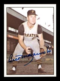 Bill Mazeroski Autographed 1978 TCMA The 1960's Card #62 Pittsburgh Pirates SKU #189190