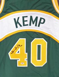 Seattle Sonics Shawn Kemp Autographed Green Jersey PSA/DNA Stock #187732