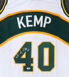 Seattle Sonics Shawn Kemp Autographed White Jersey PSA/DNA Stock #187733