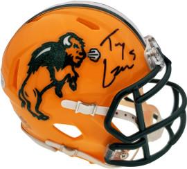Trey Lance Autographed North Dakota State Bison Speed Mini Helmet Beckett BAS Stock #187734