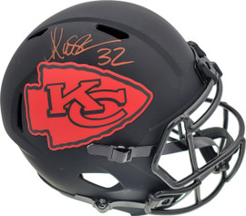 Marcus Allen Autographed Kansas City Chiefs Eclipse Black Full Size Speed Replica Helmet Beckett BAS Stock #189392