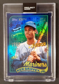 Ken Griffey Jr. Topps Project 2020 Sophia Chang Rainbow Foil Card #394 Seattle Mariners SKU #189488