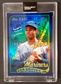 Ken Griffey Jr. Topps Project 2020 Sophia Chang Rainbow Foil Card #394 Seattle Mariners SKU #189489
