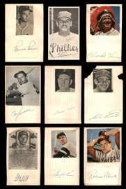 Vintage Cut Signatures & Index Cards Autographed 40 CT Lot Including Robin Roberts, Ralph Kiner & Carl Hubbell SKU #189565