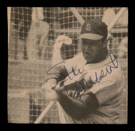 Stan Musial Autographed 3.25x3.25 Magazine Page Photo St. Louis Cardinals SKU #189672