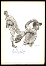 Carl Hubbell Autographed 7.75x11 Photo New York Giants SKU #189699