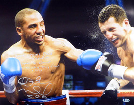 "Andre Ward Autographed 16x20 Photo ""2004 Olympic Gold Medalist, Super 6 Champ, WBA/Ring Mag Super Middle Weight Champ, 27-0, SOG"" Beckett BAS #V61298"