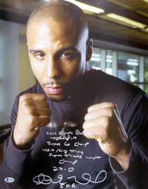 "Andre Ward Autographed 16x20 Photo ""2004 Olympic Gold Medalist, Super 6 Champ, WBA/Ring Mag Super Middle Weight Champ, 27-0, SOG"" Beckett BAS #V61294"