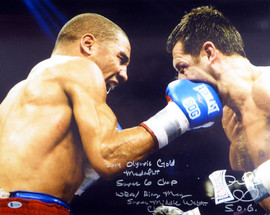 "Andre Ward Autographed 16x20 Photo ""2004 Olympic Gold Medalist, Super 6 Champ, WBA/Ring Mag Super Middle Weight Champ, 27-0, SOG"" Beckett BAS #V61302"