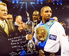 "Andre Ward Autographed 16x20 Photo ""2004 Olympic Gold Medalist, Super 6 Champ, WBA/Ring Mag Super Middle Weight Champ, 27-0, SOG"" Beckett BAS #V61301"