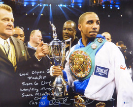 "Andre Ward Autographed 16x20 Photo ""2004 Olympic Gold Medalist, Super 6 Champ, WBA/Ring Mag Super Middle Weight Champ, 27-0, SOG"" Beckett BAS #V61299"