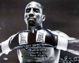 "Andre Ward Autographed 16x20 Photo ""2004 Olympic Gold Medalist, Super 6 Champ, WBA/Ring Mag Super Middle Weight Champ, 27-0, SOG"" Beckett BAS #V61296"