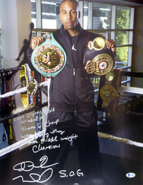 "Andre Ward Autographed 16x20 Photo ""2004 Olympic Gold Medalist, Super 6 Champ, WBA/Ring Mag Super Middle Weight Champ, 27-0, SOG"" Beckett BAS #V61300"