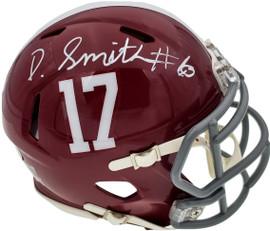 Devonta Smith Autographed Alabama Crimson Tide Speed Mini Helmet Beckett BAS Stock #189551