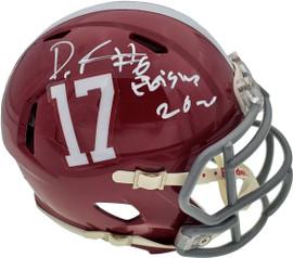 "Devonta Smith Autographed Alabama Crimson Tide Speed Mini Helmet ""Heisman 2020"" Beckett BAS Stock #189552"
