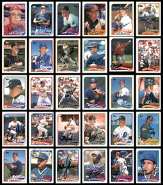 1989 Topps Baseball Autographed Cards 321 Count Lot Starter Set All Different SKU #189786
