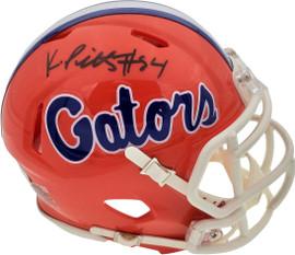 Kyle Pitts Autographed Florida Gators Orange Speed Mini Helmet Beckett BAS Stock #189799