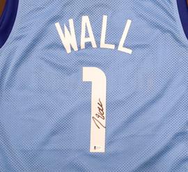 Houston Rockets John Wall Autographed Light Blue Jersey Beckett BAS Stock #189803