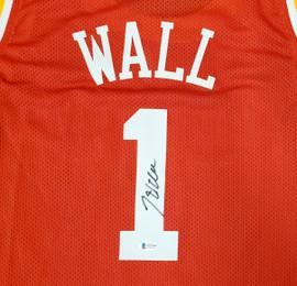 Houston Rockets John Wall Autographed Red Jersey Beckett BAS Stock #189805