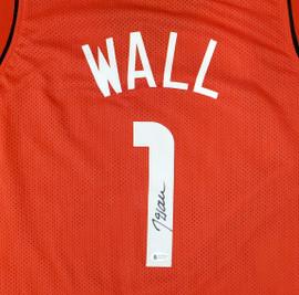 Houston Rockets John Wall Autographed Red Jersey Beckett BAS Stock #189806