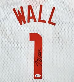 Houston Rockets John Wall Autographed White Jersey Beckett BAS Stock #189807