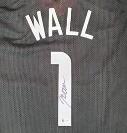 Houston Rockets John Wall Autographed Black Jersey Beckett BAS Stock #189808