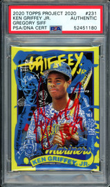"""Ken Griffey Jr. Autographed Topps Project 2020 Gregory Siff Card #231 Seattle Mariners """"1989"""" #1/1 PSA/DNA #52451180"""