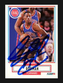 Dennis Rodman Autographed 1990-91 Fleer Card #59 Detroit Pistons Stock #190466