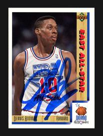 Dennis Rodman Autographed 1991-92 Upper Deck Card #457 Detroit Pistons Stock #190468