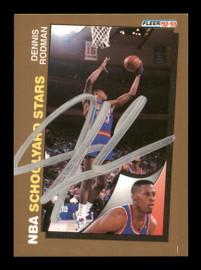 Dennis Rodman Autographed 1992-93 Fleer Card #261 Detroit Pistons SKU #190469