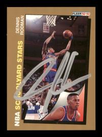 Dennis Rodman Autographed 1992-93 Fleer Card #261 Detroit Pistons SKU #190470