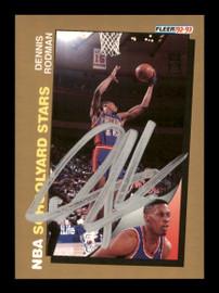 Dennis Rodman Autographed 1992-93 Fleer Card #261 Detroit Pistons SKU #190472