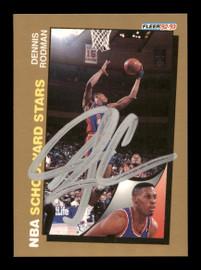 Dennis Rodman Autographed 1992-93 Fleer Card #261 Detroit Pistons SKU #190473