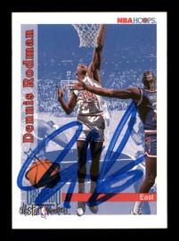 Dennis Rodman Autographed 1992-93 Hoops Card #302 Detroit Pistons SKU #190480