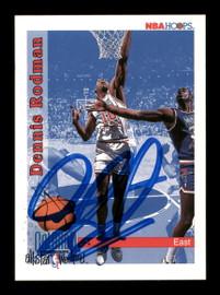 Dennis Rodman Autographed 1992-93 Hoops Card #302 Detroit Pistons SKU #190481